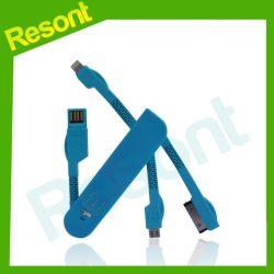 Couteau suisse de style, commerce de gros câble de liaison de données micro Chargeur USB câble de données du trousseau peut de chargement/transfert de données
