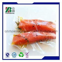 Plástico laminado de OPP PE bolsa de embalaje de alimentos congelados de pescado la bola y el pastel de pescado envasado