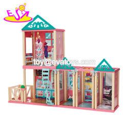 新しいデザイン魅力的な女の子の家具W06A260が付いている木の王女人形の家