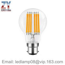 GLS A60/A19 6With8W B22/E27/E26 LEDのフィラメントの球根ランプ