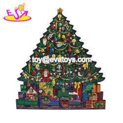 2018 Top Fashion Forma de árvore de Natal de madeira para decoração de calendário fornece W02A316