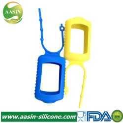 Portable personnalisé X-Mas en verre de parfum 30ml Lotion la pendaison de voyage Porte-bouteille Pet de gel de silicone