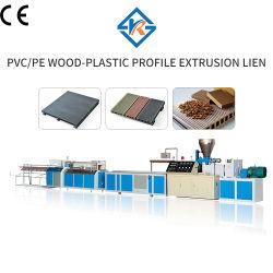 De PP PE WPC deck exterior fazendo a máquina/ composto de plástico de madeira a linha de extrusão de perfis