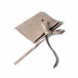 Il sacchetto di Drawstring su ordinazione del sacchetto dei monili del raso del velluto di Microfiber libera il marchio