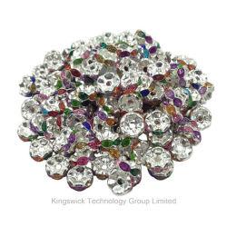 卸し売り安いラインストーンはスペーサ、宝石類のラインストーンのブレスレットのビードに玉を付ける