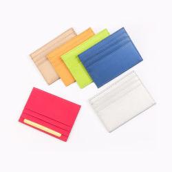 O titular do cartão de crédito de material de escritório PU Bolsa presente de promoção da Carteira de couro