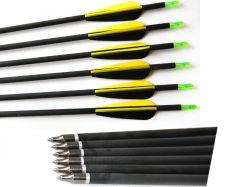 """freccia del carbonio 29 """" - 31 """" con le frecce della fibra del carbonio della testa della freccia del campo per caccia"""