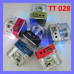 tt 028 راديو FM بسماعة Micro SD ذات لون فاتح مشغل MP3 محمول لقرص USB (SP-820)