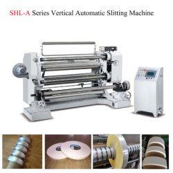 Machine automatique de refendage Film étirable rembobineur Film coupeuse en long