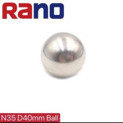 N35 D40mm esfera esfera Redonda Permanente Esférica de terra rara íman