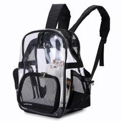 애완 동물 책가방, 작은 개 새끼 고양이 강아지 공동 자금 여행 Esg14009를 위한 To10lbs 높은 쪽으로 Breathable 메시 Windows 여행 운반대 부대 무게를 위한 투명한 고양이 책가방 운반대