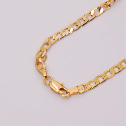 Bisutería Custom Collar chapado en oro de la cadena colgante de la mujer