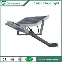 15W LED ajustável com painel solar Semi Luz Rua Integrado