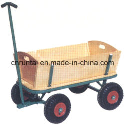 木の中国の製造者の庭カート4の車輪のツールのカート