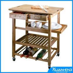 Nueva casa de bambú de Kyoto de laminación de almacenamiento de la cocina sirviendo a la cesta Carro de la isla