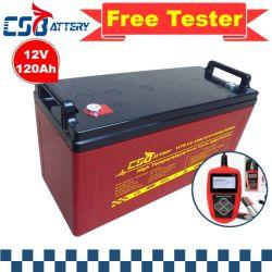 Csbattery 12V120ah Ciclo profundo recarregável Bateria de gel para Bomba/Golf-Cart/Electrical-Tools/Ada