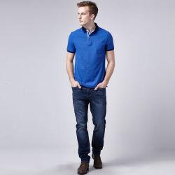 Индивидуальный логотип синий Racing мужчин рубашки поло с вышивкой