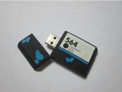 Conception personnalisée Rectangle Silicone lecteur Flash USB (OM-P317)