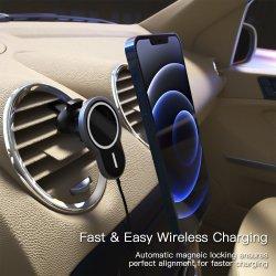 Montagem de automóveis Carregador Sem Fio Floveme USB 10W sem fio magnético carro carregador de telemóvel Magsafe Manual