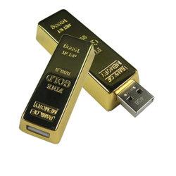 محرك أقراص USB للقلم على شكل قضيب ذهبي من 1 جيجابايت إلى 16 جيجابايت مع CE، FCC (U218)