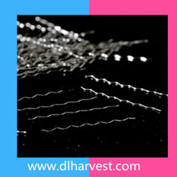 Micro fibre d'acier ondulée couché en laiton pour la construction du tunnel en Chine
