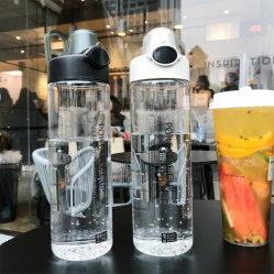 Los deportes al aire libre en botellas de agua portátil de viaje estancos botella para beber de plástico PC