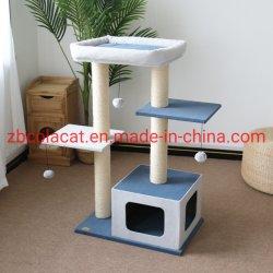 Durável populares Sisal Escalada moderna arranhar o Pet Scratcher Hammock Torre Mobiliário Cat Tree