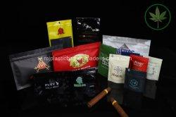 지플락 생물 분해성 쓰레기 담배 여송연은 Kraft 종이 애완 동물 먹이 비닐 봉투 밥 커피 차 주머니 포장을 위로 서 있다