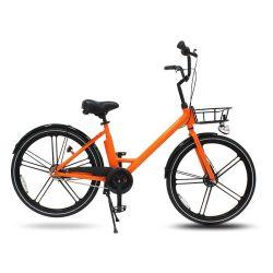 26인치 오렌지 알루미늄 합금 사이클 스마트 잠금 자전거 대여 1륜 통합 자전거 1단 렌탈 자전거 공용 자전거 공유