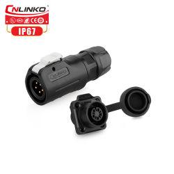 옥외 모니터를 위한 Cnlinko 5 Pin 원형 연결관 또는 전원 입력 연결관