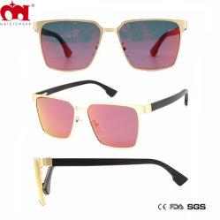 Lente roja rectangular de la playa de moda vestidos de gafas de metal de regalo (WSM20052)