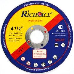 115mm abrasivos para o disco de corte de metal com certificado de MPa