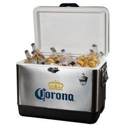 Refrigerador abastecido com cervejas Corona férias de Natal da caixa do resfriador para uso doméstico