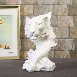 가구 장식 레진 호랑이 머리 동물 동상