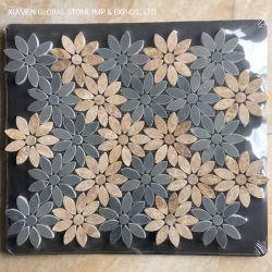 Emperador de la luz cenicienta mixto el patrón de flor de mármol gris azulejos de mosaico para interiores decoración de paredes y suelos