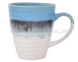En relief en grès céramique tasse à café tasse avec glaçure réactive