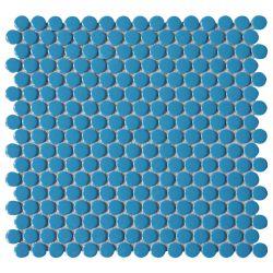 De Ronde van de Stuiver van de badkamers verglaasde het Ceramische Nieuwe Blauwe Mozaïek van het Porselein
