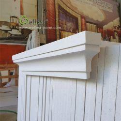 Fenêtre de calcaire de couleur beige seuil/pilier Cap/tête de colonne/châssis de porte