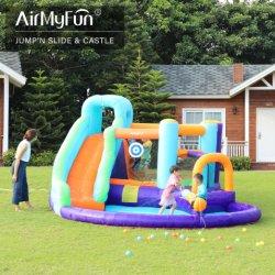 子供用屋外ガーデンプレイグラウンド用空気式ジャンプ城