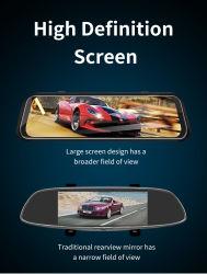 """10"""" pantalla táctil de visión nocturna de registro de grabadora de vídeo DVR coche espejo"""