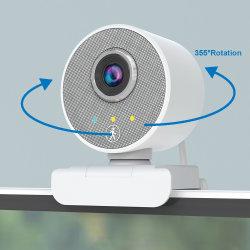 2021 كاميرا ويب جديدة مزودة بكاميرا ويب على شكل 360 Tracking Face PC USB