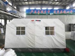 유엔 4X3.6m 화이트 워터프루프 캔버스 군대 스타일 구호 긴급 Shelter Medical Hospital 텐트