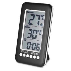 시계 및 원격 센서가 있는 벽면 또는 데스크탑 무선 온도계