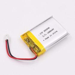 3.7V il natale a pile Dtp803040 1000mAh illumina il ciclo della batteria