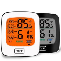 Nueva sala Higrómetro Digital termómetro con retroiluminación de toque para el hogar