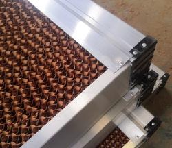 7090 almohadilla de refrigeración de aire Filtro de nido de abeja para el enfriador de aire y gases de efecto