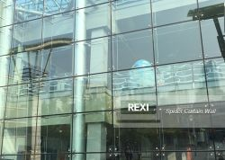 Système de mur de verre extérieur avec vitrage bâtiment Aluminium Frameless Mullionless Spider mur rideau façade en aluminium