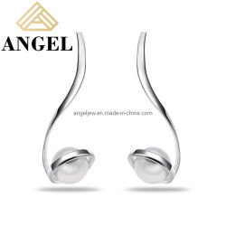 Elegante fabbrica di orecchini a perla fine di alta qualità in argento sterling 925 Vendita all'ingrosso Gioielli di Moda per donne alla moda