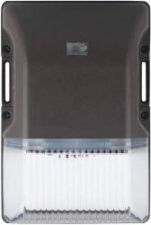 LED مجموعة الجدار الصغير في الهواء الطلق عند الغسق إلى الفجر، 25 واط، إضاءة جدار الأمان، 3000K، فوتوكيل، مع غطاء زجاجي شفاف، IP65