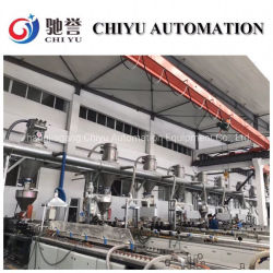 PVC 밀어남 생산 라인을%s 자동적인 컨베이어 시스템 또는 시스템 또는 압축 공기를 넣은 운반 시스템을 전하는 분말